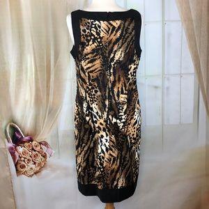 AB Studio Dresses - AB Studio Animal Print Sleeveless Dress